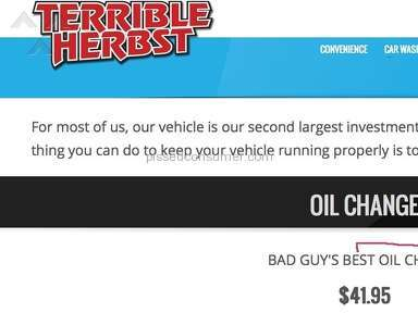 Terrible Herbst Oil Change review 136245