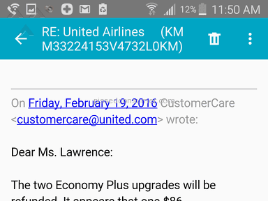United Airlines Customer Care Review from Kihei, Hawaii