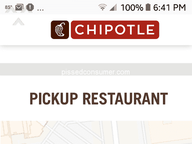 Chipotle - Problems with online order-refund required