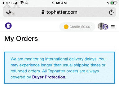 Tophatter Customer Care review 731689