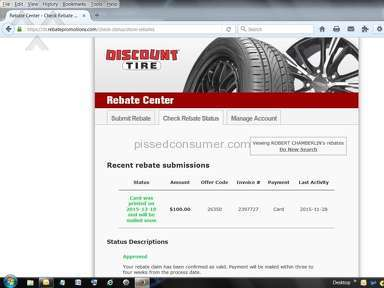 Discount Tire Rebate Scam