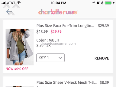 Charlotte Russe - Customer service no phone manners