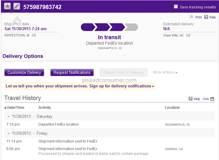 fedex failed to deliver my package on time