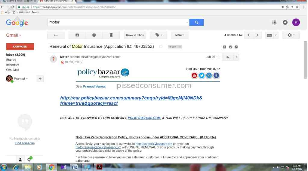 PolicyBazaar - About policy bazaar free RSA commitment Sep ...
