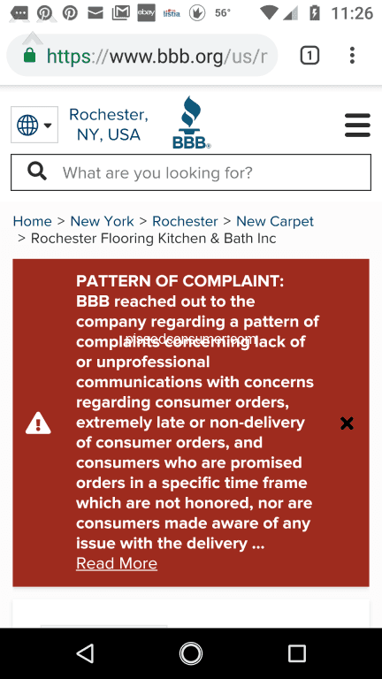 Rochester Linoleum And Carpet One Cautionary Tale Warning
