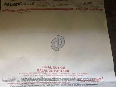 Aspen Dental - Incorrect bill