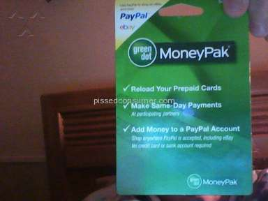 Green Dot Moneypak Prepaid Card review 50015