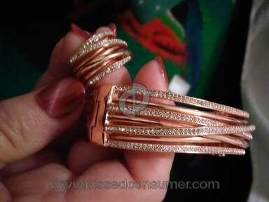Piercing Pagoda - Fake rose gold bracelet and ring