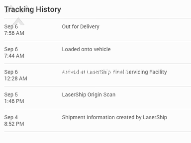 LaserShip - Package not deliver