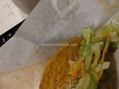 Del Taco - Poor quality food