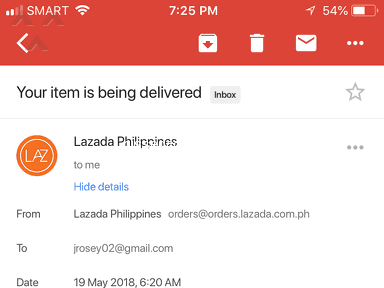 Lazada Philippines - Cancelled Order