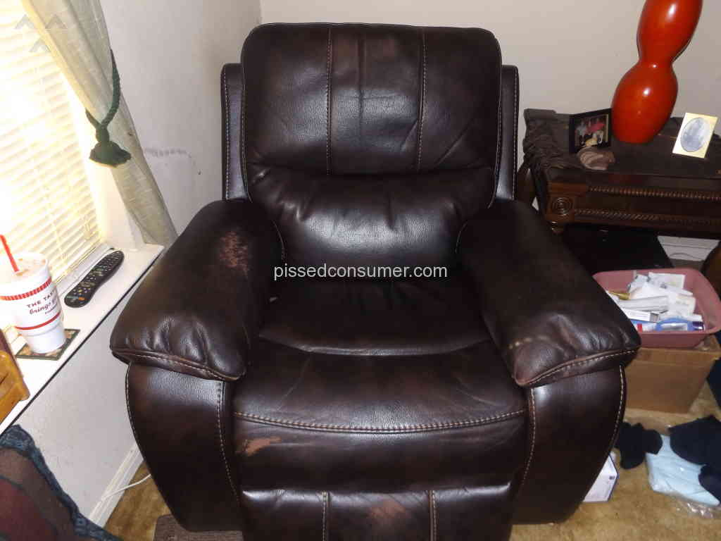 Gallery furniture flex steel leather power recliner is for D furniture galleries