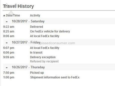 FedEx - Bad service, they lie with the info they post about the delivery.