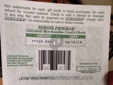 Menards - Check with no money