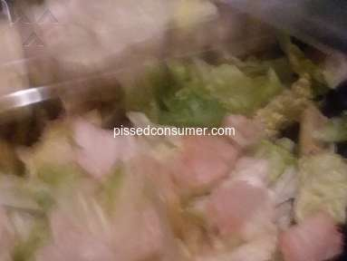 Dominos Pizza - Rotten salad twice manager was rude