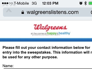 Walgreens Receipt Survey Review