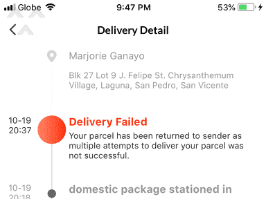 Lazada Philippines - Poor Customer Service, unreliable Courier