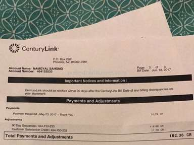 Centurylink - Billing overcharging