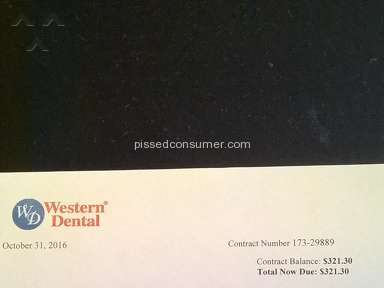 Western Dental - Misrepresentation and Fraud re: charges