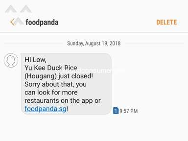 Foodpanda Singapore - Late Delivery. And then. NO delivery.