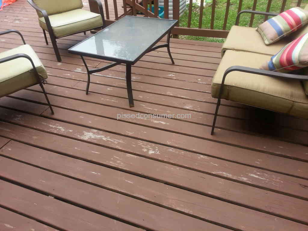 Behr Deckover Paint Review From Jackson New Jersey Jul 13 2016 Pissed Consumer