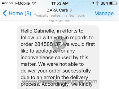 Zara Customer Care review 186936