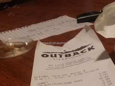 Outback Steakhouse - Not 1 but 5 complaints