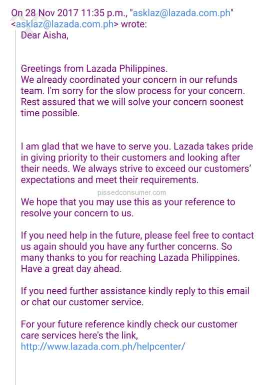 Resolved: Lazada Philippines - Customer service in Lazada dont takes ...