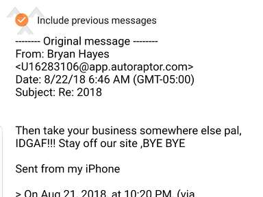 Jeff Couchs Rv Nation - Horrible Sales people