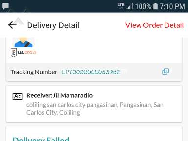 Lazada Philippines - Undelivered item