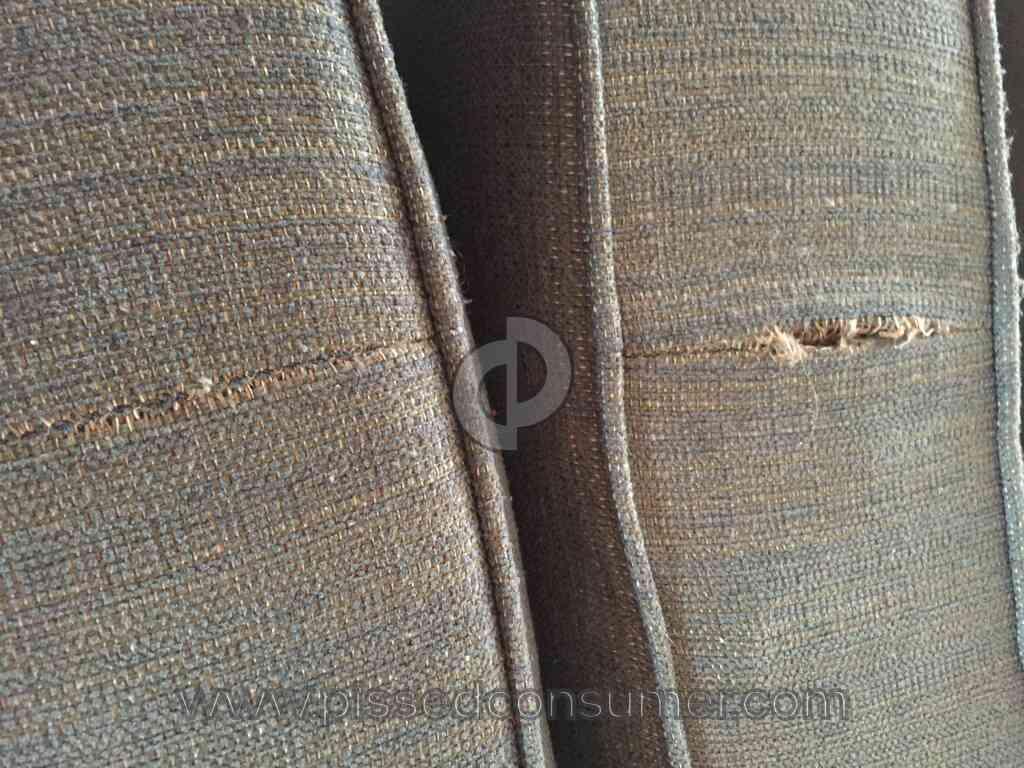 Hanks Fine Furniture Sofa Cushions Tearing Apart At Seams