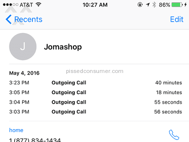 Jomashop Customer Care review 131631