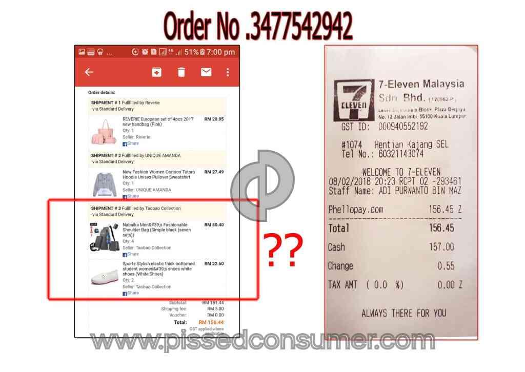Lazada Malaysia Order No Come Mar 08 2018 Pissed Consumer