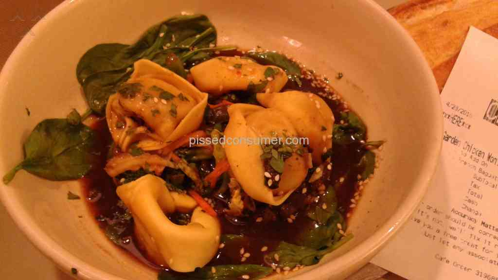 1 Panera Bread Thai Garden Chicken Wonton Broth Review Or Complaint Pissed Consumer