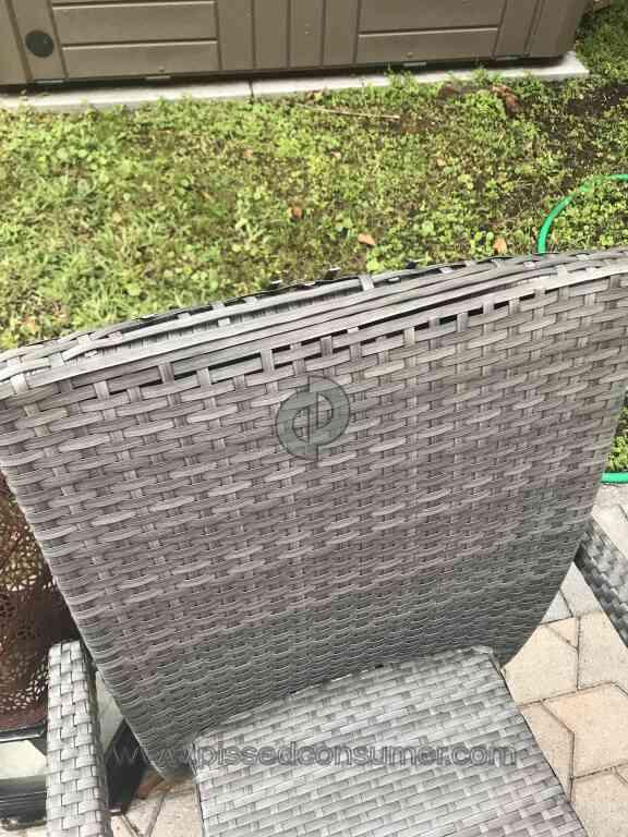El Dorado Furniture - Terrible patio furniture - 1 El Dorado Furniture Outdoor Furniture Review @ Pissed Consumer
