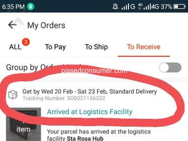 Lazada Philippines - Delayed not On time