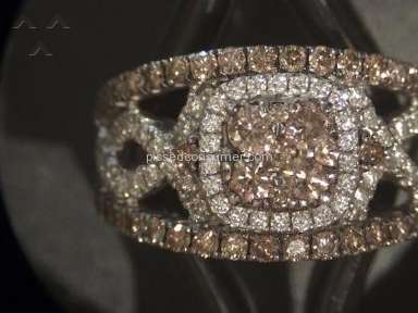 Le Vian - $4000 chocolate diamond ring. Stones keep falling out.