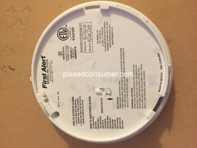 Defective First Alert P1210 Smoke Detector