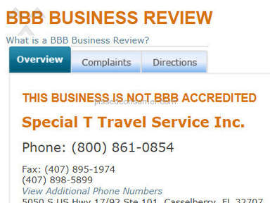 Special T Travel Travel Agencies review 13065