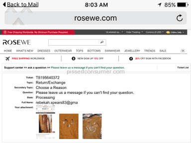 Rosewe - Dress Review from Merrimac, Wisconsin