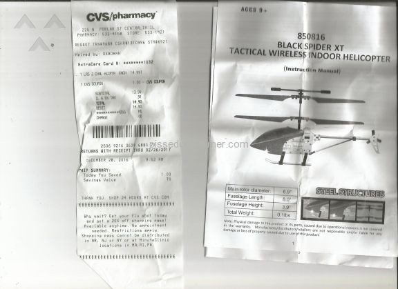 Ruichuang Toys 850816 Black Spider Xt Rc Helicopter