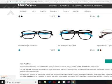 "Glassesshop - Deceptive Advertising for ""FIRST PAIR FREE"" - RED FLAG"